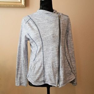 Zenergy by Chico's Heathered Moto Blazer Sz. 1
